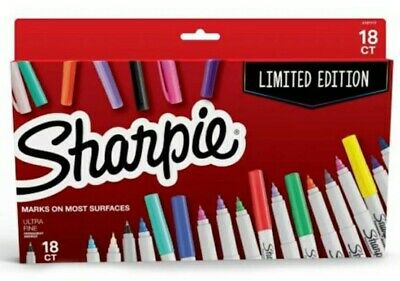 Sharpie Ultra-fine Tip Permanent Marker Assorted Colors 18 Ct Limited Edition