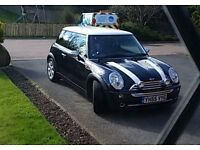 Mini cooper 05 plate in black