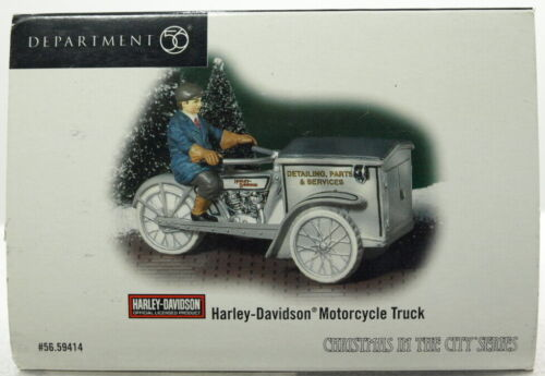 """DEPT 56 CHRISTMAS IN THE CITY """"HARLEY-DAVIDSON MOTORCYCLE TRUCK"""" BRAND NEW"""
