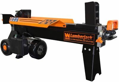 Electric Log Splitter Corded 34 in. Stand Horizontal Wood Firewood Easy (Electric Log Splitter Stand)