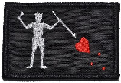 Pirate Hooks (Edward Teach Blackbeard Pirate Flag - 2x3 Military/Morale Patch Hook)