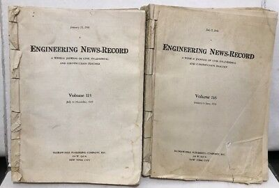 Journal Civil Engineering News Record 1935 36 July June Bound Paper Vol 115 116