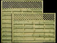 Wels Modern Fence Panel With Trellis