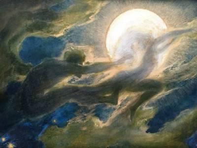 Halloween , Richard Riemerschmid  Cloud Ghosts Moon