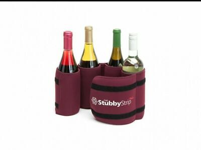 Stubby Strip Vino Wine Cooler Carrier Burgundy Wine Lovers -
