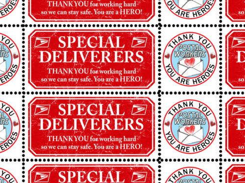 Letter Writers - Thank Our Postal Workers!   Seal/Stamp Sheet - Artistamp
