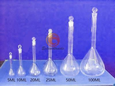 New Borosilicate Glass Volumetric Flask With Stopper