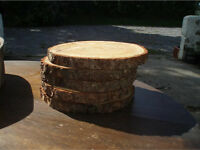 14 wooden logs slices, wedding centre pieces