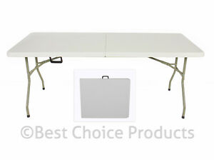 folding table 6 039 portable plastic indoor outdoor picnic party dining camp tables ebay. Black Bedroom Furniture Sets. Home Design Ideas