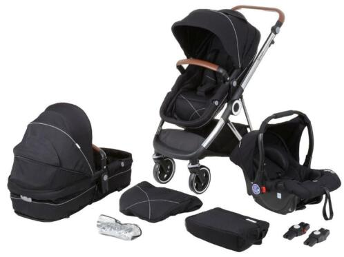 Babygo Halime Anthracite with Silver frame 3-in-1 Kinderw...