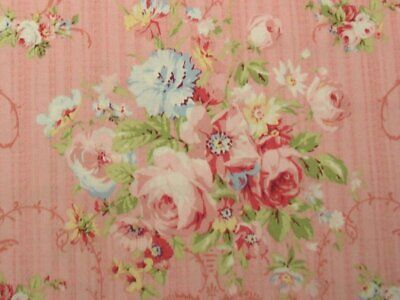 Cottage Shabby Chic Lecien Rococo & Sweet Floral Fabric 31860L-20 Baby Pink  BTY