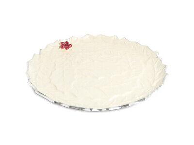 Julia Knight Holly Sprig 13 Round Platter Snow