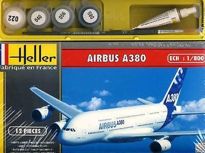 Heller Airbus A380 Premier Vol Couleur Brosse Gluten Modèle-kit 1:800 Jeu Kit