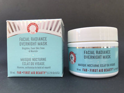 First Aid Beauty Facial Radiance Overnight Mask 1.7oz Brighten Even Tone Nourish