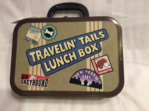 Travelin' Tails Lunch Box Dog/Cat/Pet Food Water Case Cute Just bepaws 2004 NWT