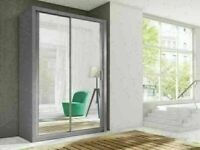 Lowest price offer BERLIN 2 DOOR SLIDING WARDROBE WITH FULL MIRROR SAME DAY DELIVERY