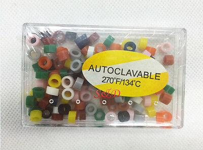 Dental Rubber Instrument Color Code Ring Band Autoclavable 240pcs2pk