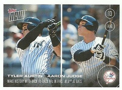 Tyler Austin   Aaron Judge 2016 Topps Now Card   351 1St At Bat Back To Back Hrs