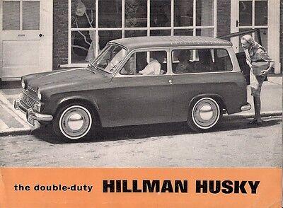 Hillman Husky Series III 1963-64 UK Market Sales Brochure