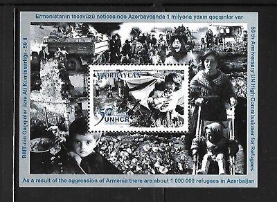 AZERBAIJAN Sc 719 NH ISSUE of 2001 - SOUVENIR SHEET - UN Refugees