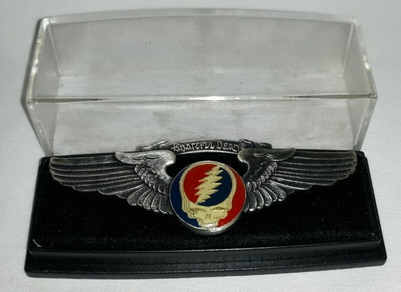 Grateful Dead Steal Your Face Wings pin/badge - Original in plastic display case
