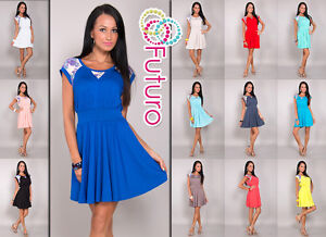 Stunning-Womens-Skater-Dress-Scoop-Neck-Cap-Sleeve-Tunic-Size-8-12-8118