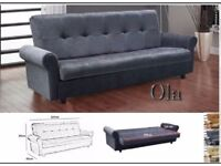 SOFABED 3 SEATER LEATHER SOFA BED