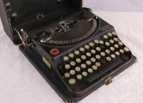 Antique Remington Standard Portable Typewriter w/ Original Case