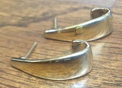 14k Modern Style Gold Earrings (14K YELLOW GOLD MODERN STYLE UNIQUE EARRINGS CARLA )
