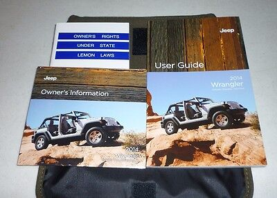 2014 JEEP WRANGLER USER GUIDE OWNERS MANUAL SET DVD w/case 14
