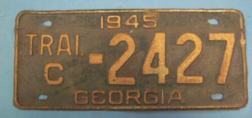 1945 Georgia license plate trailer