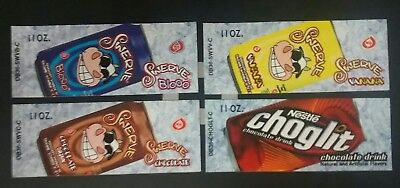 Swerve Choglit Retired Coke Brand Vending Machine Button Labels Lot Of 4
