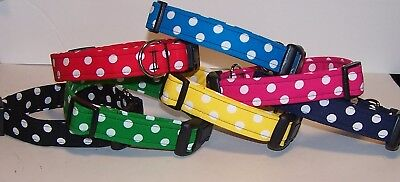 Wet Nose Designs All About The Dots Dog Collar Polka Dot Brites Red Blue Yellow