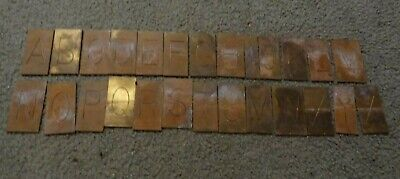 Large Brass Regular Letters Capitals Master Engraving Plates A-z Complete Lot 1