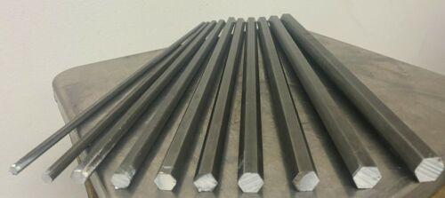 12L14 Steel Bar Stock Assortment 10 Hexagon Bars See Description Below