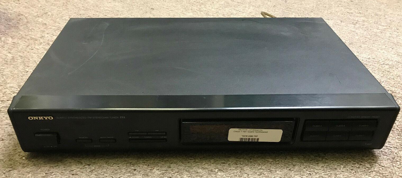 Vintage Onkyo T-401 Quartz Synthesized AM/FM Stereo Radio Tuner