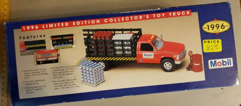 1996 mobil oil ltd edition collector toy truck 1/24th