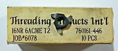 10 Pieces Tpi 16nr 6acme T2 Carbide Inserts  H470