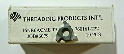10 Pieces Tpi 16nr 6acme T5 Carbide Inserts  H382