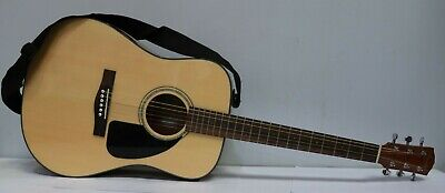 FENDER CD60 NAT Acoustic Steel String Guitar + Gig Bag - 250