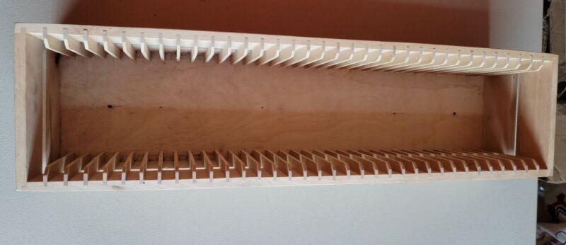 IKEA BOALT Solid Wood CD Rack holder Wall Mount  Holds 35 CDs