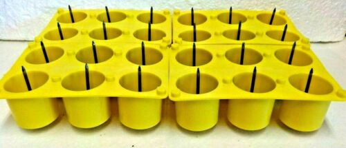 Lot of 4  New   6 Cavity Votive  Plastic Candle Mold With Wick Pins Made in USA