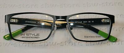 Brille Brillengestell IN STYLE pop ISH71 dunkelblau / grün Bügellänge 140mm