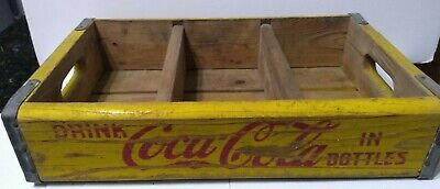 Vintage Yellow & Red Coca-Cola Coke Crate 1960s Miller MFG CO