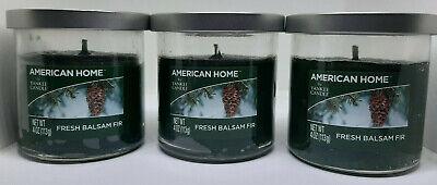 Set of 3 American Home by Yankee Tumbler Candle Fresh Balsam Fir 4 oz