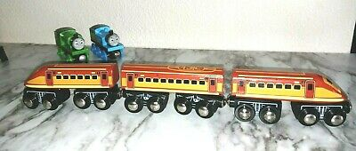 Toy R US Thomas & Friends Compatible Magnetic Wooden SUBWAY Train 3 Cars #19