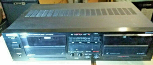 Kenwood Dual Auto Reverese Cassette Tape Deck Recorder w/Auto Tape Bias Serviced