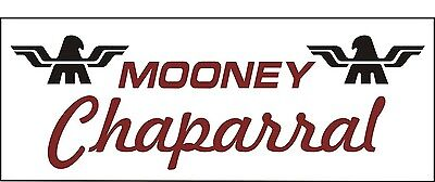 A087 Mooney Chaparral Airplane banner hangar garage decor Aircraft signs