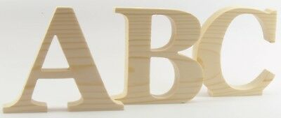 Pine wood A-Z Wooden letters 8cm-15cm Hand -