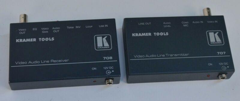 Kramer Electronics 707 Video Audio Line Transmitter + 708 Receiver
